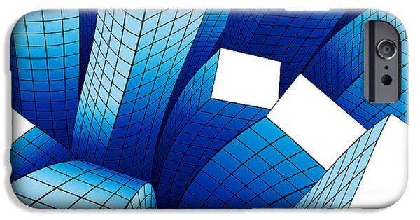 Business Digital iPhone Cases - Dancing Buildings iPhone Case by Atiketta Sangasaeng
