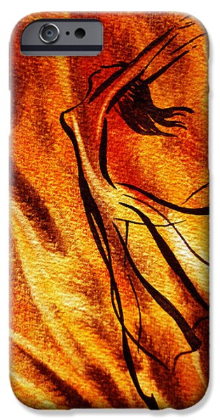 Abstract Movement iPhone Cases - Dancing Fire VI iPhone Case by Irina Sztukowski