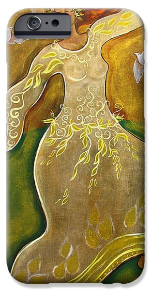 Dancing iPhone Cases - Dancing Her Prayers iPhone Case by Shiloh Sophia McCloud
