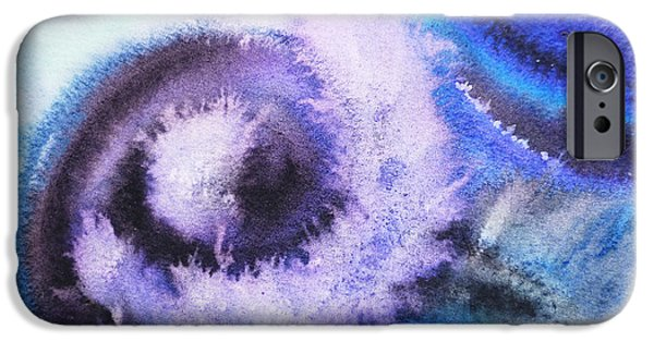 Cold Paintings iPhone Cases - Dancing Water IV iPhone Case by Irina Sztukowski