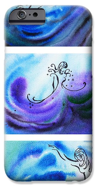 Abstractions iPhone Cases - Dancing Water V iPhone Case by Irina Sztukowski