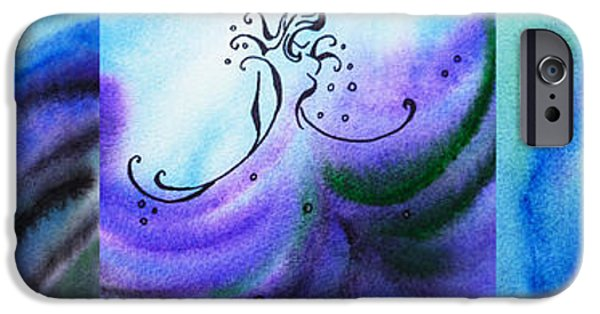 Abstract Movement iPhone Cases - Dancing Water VI iPhone Case by Irina Sztukowski