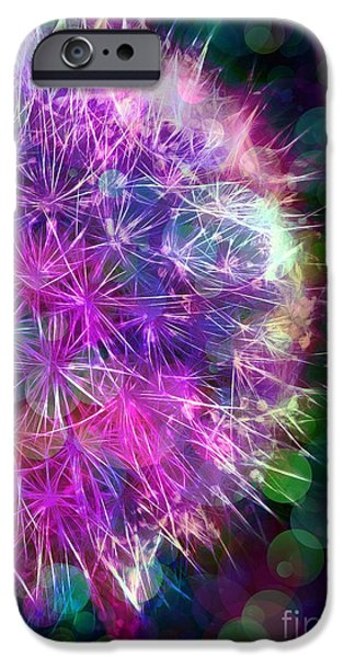 Dandelion Party iPhone Case by Judi Bagwell