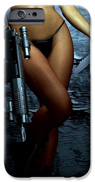 Female Body Digital Art iPhone Cases - Dangerous Allure iPhone Case by Alexander Butler