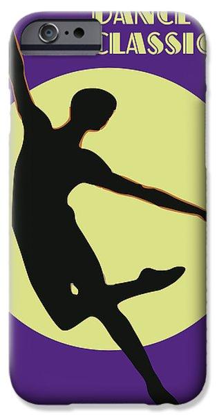 Ballet Dancers iPhone Cases - Danza-5.cdr iPhone Case by Joaquin Abella