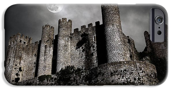 Creepy iPhone Cases - Dark Castle iPhone Case by Carlos Caetano