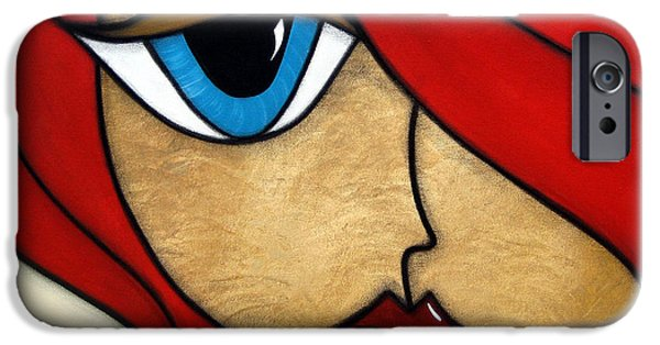 Contemporary Abstract Drawings iPhone Cases - Darling iPhone Case by Tom Fedro - Fidostudio