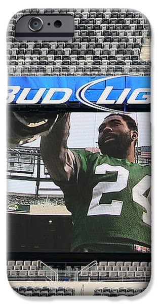 Darrelle Revis - NY Jets iPhone Case by Paul Ward