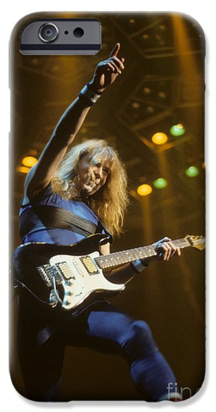 Dave iPhone Cases - Dave Murray of Iron Maiden iPhone Case by Rich Fuscia