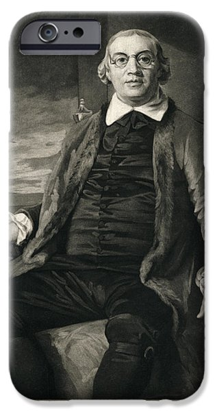 Caption iPhone Cases - David Hartley, English Diplomat iPhone Case by Humanities & Social Sciences Librarynew York Public Library