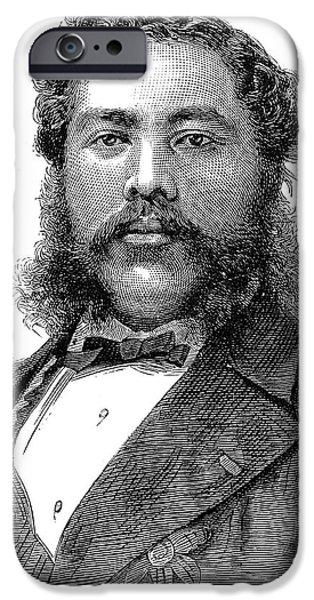 DAVID KALAKAUA (1836-1891) iPhone Case by Granger