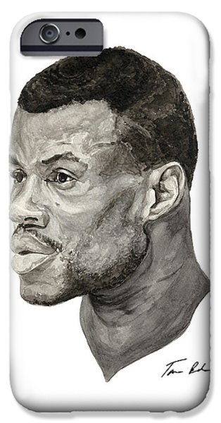 David Robinson iPhone Case by Tamir Barkan