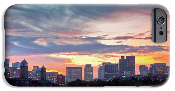 Charles River iPhone Cases - Dawn on the Charles River iPhone Case by Susan Cole Kelly