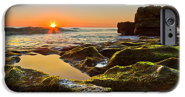 Tidal Photographs iPhone Cases - Dawn Pool iPhone Case by Debra and Dave Vanderlaan