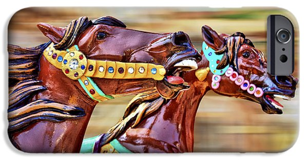 Spin iPhone Cases - Day at the Races iPhone Case by Evelina Kremsdorf