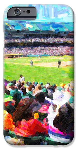 Day Game At The Old Ballpark iPhone Case by Wingsdomain Art and Photography