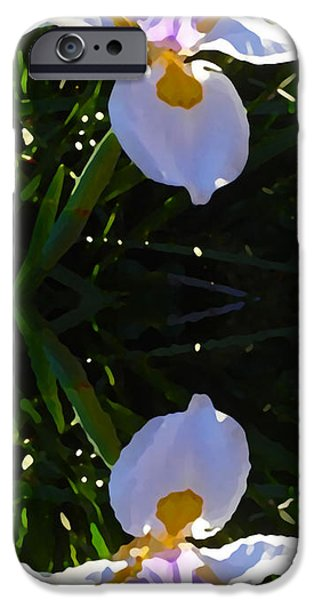 Floral Art iPhone Cases - Day Lily Reflection iPhone Case by Amy Vangsgard