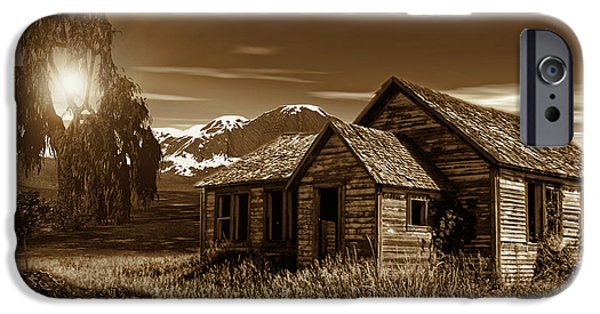 Old Barns iPhone Cases - Days Of Yore iPhone Case by Lourry Legarde