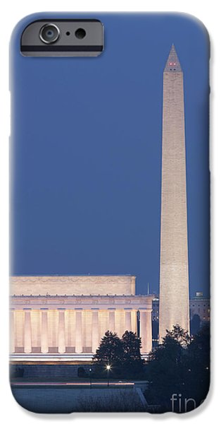 D.c. iPhone Cases - DC Landmarks at Twilight iPhone Case by Clarence Holmes