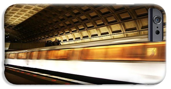 Smithsonian Photographs iPhone Cases - DC Metro iPhone Case by Heather Applegate