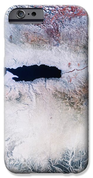 Dead Sea From Space iPhone Case by NASA / Science Source