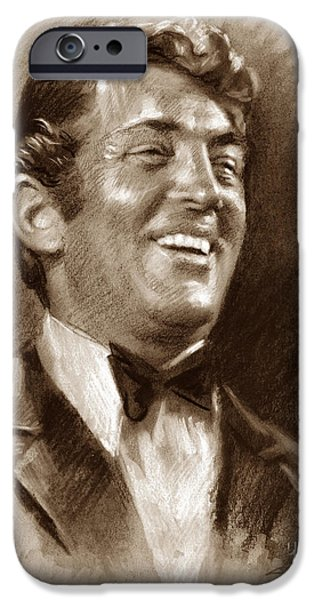 Dean iPhone Cases - DEAN MARTIN br iPhone Case by Ylli Haruni
