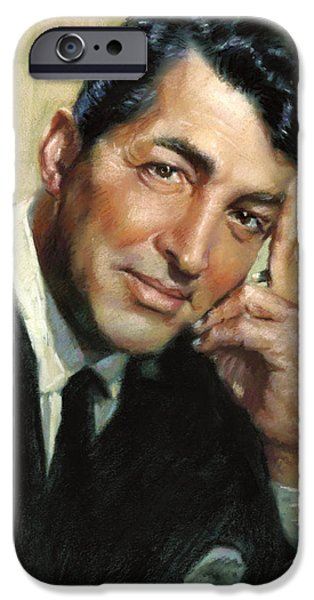 Dean iPhone Cases - Dean Martin iPhone Case by Ylli Haruni