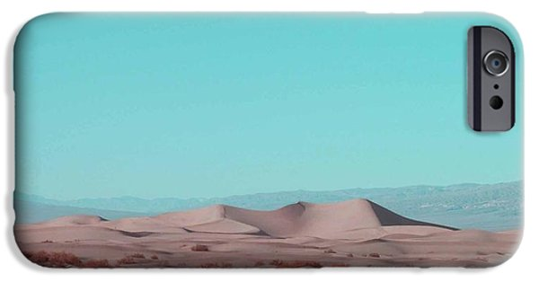 Outdoors iPhone Cases - Death Valley Dunes 2 iPhone Case by Naxart Studio