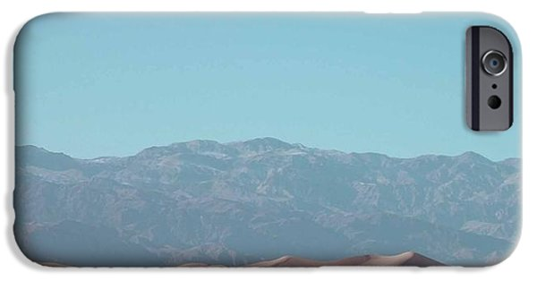 Outdoors iPhone Cases - Death Valley Dunes iPhone Case by Naxart Studio