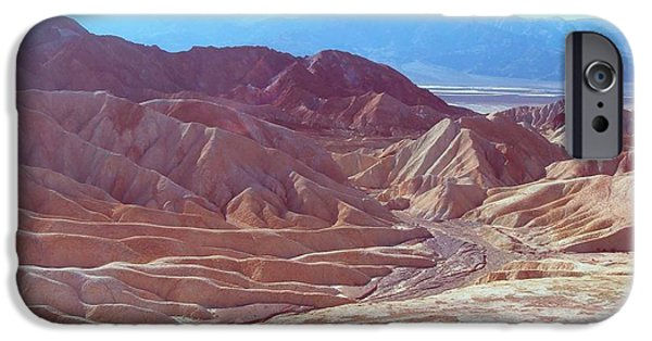 Rural Landscapes iPhone Cases - Death Valley Mountains 2 iPhone Case by Naxart Studio