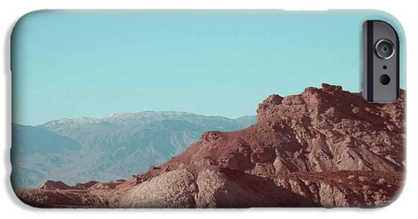 Outdoors iPhone Cases - Death Valley Mountains iPhone Case by Naxart Studio