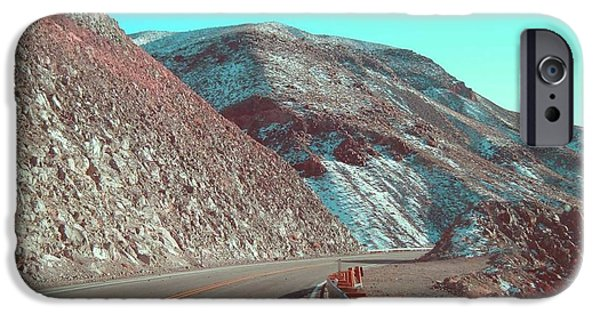 Outdoors iPhone Cases - Death Valley Road 2 iPhone Case by Naxart Studio