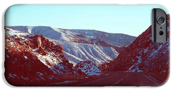 Outdoors iPhone Cases - Death Valley Road iPhone Case by Naxart Studio