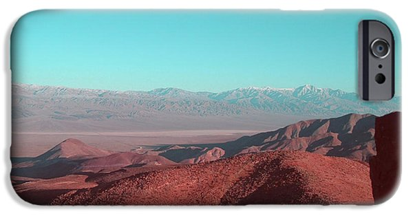 Field. Cloud iPhone Cases - Death Valley View 1 iPhone Case by Naxart Studio