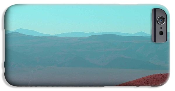 Field. Cloud iPhone Cases - Death Valley View 2 iPhone Case by Naxart Studio