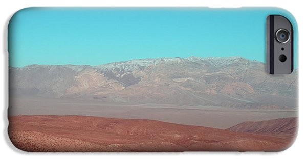 Field. Cloud iPhone Cases - Death Valley View 3 iPhone Case by Naxart Studio