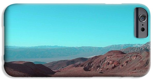 Outdoors iPhone Cases - Death Valley View iPhone Case by Naxart Studio