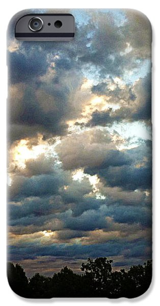 Deceptive Clouds iPhone Case by Cricket Hackmann
