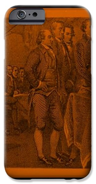 DECLARATION OF INDEPENDENCE in ORANGE iPhone Case by ROB HANS