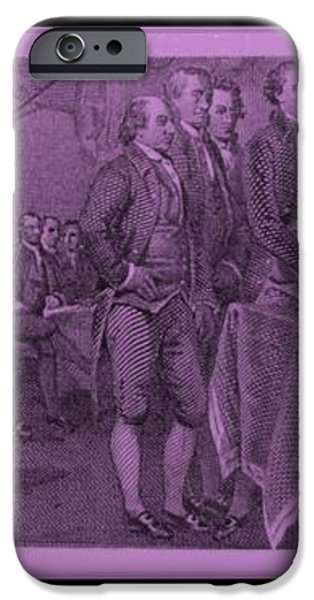 DECLARATION OF INDEPENDENCE in PINK iPhone Case by ROB HANS
