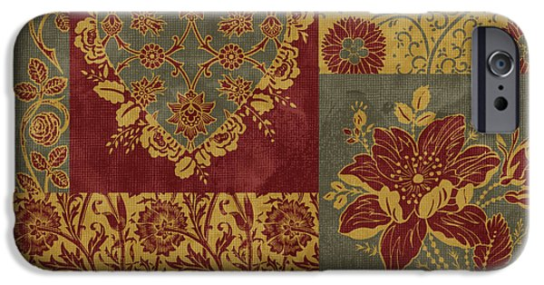 Carpet iPhone Cases - Deco Heart Earthtones iPhone Case by JQ Licensing