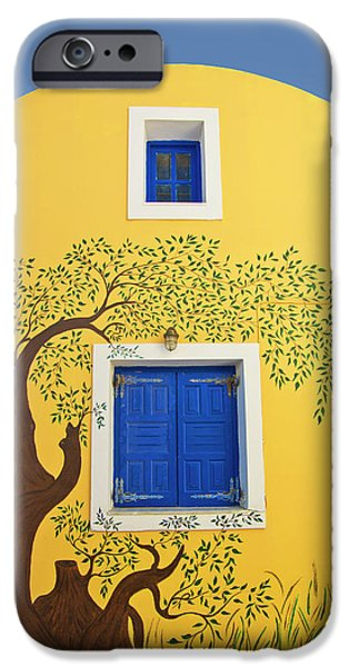 House Art Photographs iPhone Cases - Decorated House iPhone Case by Meirion Matthias