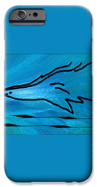 Deep Blue iPhone Case by Ben and Raisa Gertsberg