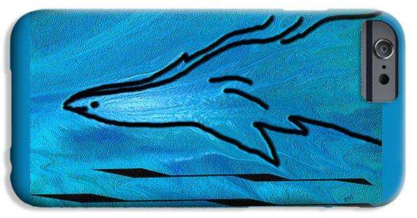 Ben Gertsberg Digital Art iPhone Cases - Deep Blue iPhone Case by Ben and Raisa Gertsberg