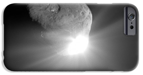 4th July Photographs iPhone Cases - Deep Impact Comet Strike iPhone Case by Nasa