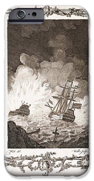 Caption iPhone Cases - Defeat Of The Spanish Armada, 1588 iPhone Case by Middle Temple Library