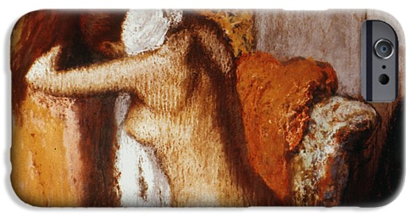 19th Century iPhone Cases - Degas: After The Bath iPhone Case by Granger