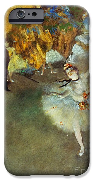 Entertainment iPhone Cases - Degas: Star, 1876-77 iPhone Case by Granger