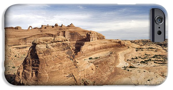 Slickrock iPhone Cases - Delicate Arch Viewpoint - D004091 iPhone Case by Daniel Dempster