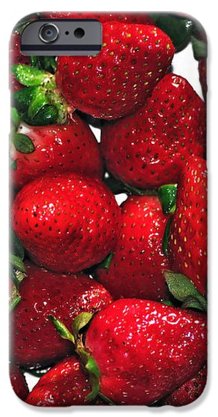 Deliciously Sweet Strawberries iPhone Case by Kaye Menner